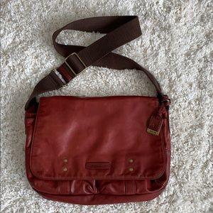 "Frye ""Jenny"" Red Large Messenger/Crossbody Bag"